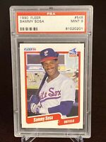 1990 Fleer Sammy Sosa Rookie #548 PSA 9 MINT Chicago White Sox RC Cubs