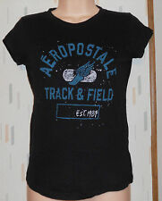 AEROPOSTALE   BABY FIT  Black Knit Top T-Shirt Sz.S