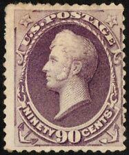 "US Sc# 218 *MINT OG H* { 90c PURPLE PERRY } ""SCARCE OF 1888 SERIES CV $1,200.00"