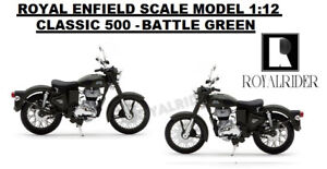"ROYAL ENFIELD ""SCALE MODEL 1:12 CLASSIC 500 "" - BATTLE GREEN"