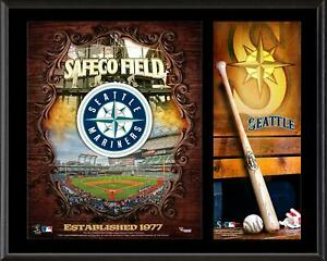 """Seattle Mariners Sublimated 12"""" x 15"""" Team Logo Plaque"""