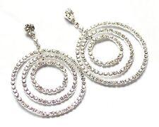 Diamantes de imitación de cristal grande/Diamante Triple Círculo cuelgan pendientes de araña