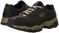 Skechers Mens Memory Fit 50125 Low Top Lace Up Running, Brown/Taupe, Size  ZLBh