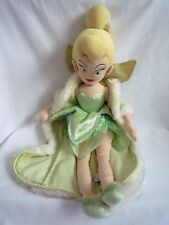 """OFFICIAL LARGE DISNEY TINKERBELL SOFT TOY  IN GREEN OUTFIT WITH CAPE  21"""""""