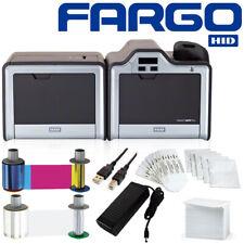 Free Shipping! Fargo Hdpii Plus Duplex Id Card Printer / Mag / E-Card / Ribbon