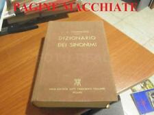 PAGINE MACCHIATE VECCHIO LIBRO NICOLO' TOMMASEO DIZIONARIO DEI SINONIMI 1957