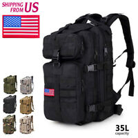 35L Outdoor Hiking Camping Trekking Military Tactical Backpack Rucksacks bag