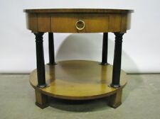 Baker Furniture Empire Style Lamp Table W/Sunburst Veneered Top & Ebonized Legs