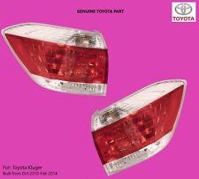 Toyota Kluger Right Left Side Tail Lights GSU40 2010 2011 2012 2013 2014 GENUINE