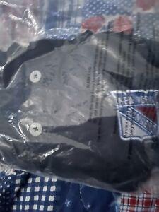 Mens New York Rangers Adidas Embroidered Performance Navy Blue Polo Golf Shirt