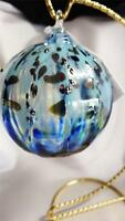 Glass Eye Studio Hand Blown Classic Island Sprinkle Round Ornament 158L