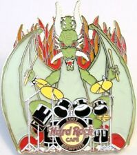 Hard Rock Cafe MEMPHIS 2007 Green DRAGON Playing DRUMS PIN - HRC Catalog #36379