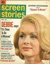 1964 Screen Stories magazine Debbie Reynolds cover joanne woodward DELL