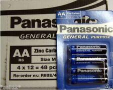 192 x PANASONIC R6 1.5V MIGNON AA BATTERIEN R06 BATTERIE LR6 48 x 4 er PACK