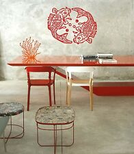 Chinese FISH Large Vinyl Wall Sticker Decal Feng Shui Spa