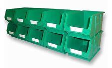 NEW PLASTIC PARTS STORAGE BINS BOX SET B314 - 10xTC3 GREEN