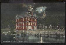 Postcard WARREN Ohio/OH  Large Electric Light Billboard Promo Ad view 1907?