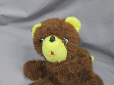VINTAGE 1976 5TH AVE. PUPPY DOG BROWN YELLOW LAYING DOWN PLUSH STUFFED ANIMAL