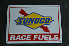 Sunoco Racing Fuel Sign Gas Pump Advertising Mechanic Garage Shop Logo Free Ship