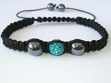 Shamballa Bracelet turquoise cristaux en boule réglable haute qualité SB10