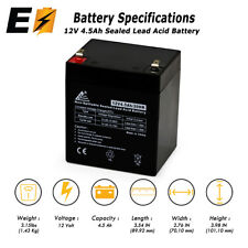 12V 4.5Ah Rechargeable Battery for djw12-4.5, LiftMaster 485LM, Chamberlain 4228