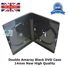 50 doppio standard nero DVD caso 14mm spina dorsale NUOVA copertura di alta qualità faccia in faccia