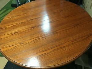 """42"""" Round Dining Room Oak Table"""