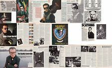 ELVIS COSTELLO : CUTTINGS COLLECTION -adverts interviews-