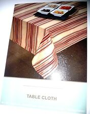 "Elegant Cherry Red  Stripe Jacquard Dinner Table Cloth  56"" x 120"""