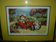 """PAUL BLAINE HENRIE Serigraph Print """"Whee!"""" Signed Numbered 157 of 300 with COA"""