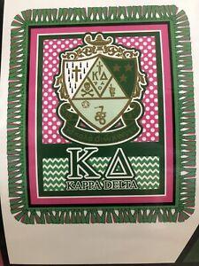 KAPPA DELTA Fleece Throw Kit, Craft, Sorority, Greek