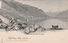AK Montreux et la Dent du Midi 1900