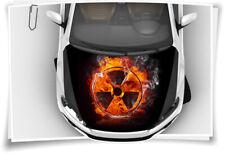 Gefahr Radioaktivität Feuer Motorhaube Auto-Aufkleber Schutz-Folie Tuning Sport