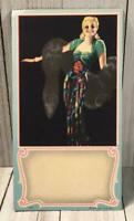 Vintage Blonde Beauty Ink Blotter Card Pad