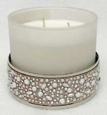 1 Bath & Body Works GLITTER GEM PEARL STRIP 3-Wick Candle Holder 14.5 oz Sleeve