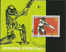 MONTSERRAT 2014 CRICKET International Sporting Events Souvenir Sheet CTO USED