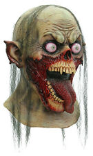 MENS ZOMBIE SLASHER MASK & NECK ADULT SCARY OVERHEAD LATEX RUBBER NEW HALLOWEEN