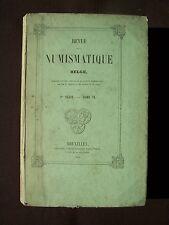 Revue de la numismatique Belge - T. VI 1856