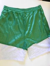 "NOS Vtg '90's Dodger Gym Shorts Size XXL 39""-41"" Green & Gray Two-layer USA!"