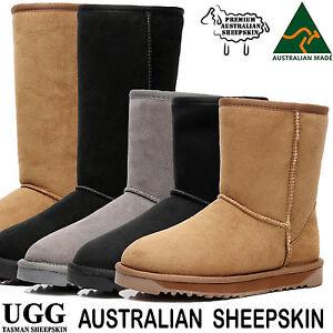 Women's Ugg Boots Australia Classic Tall Short Black Chestnut Sheepskin Suede