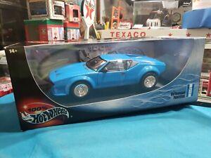Hot Wheels 1/18 Scale De Tomaso Pantera Blue Diecast NEW BEAUTIFUL VERY NICE CAR