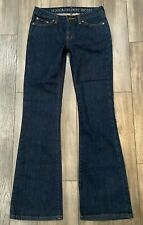 Boston Proper Jeans Women's 4 Blue Rio Fit Fitted Flare Leg Low Rise Stretch