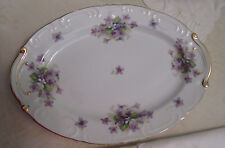 Violets by Japan Platter and Serving Bowl