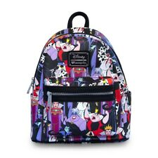 Disney Villains Mini Backpack Purse Loungefly Villains Backpack Bag NEW