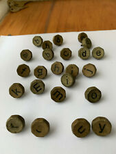 More details for hexagonal vintage typewriter key tops various numbers, letters and symbols 100+