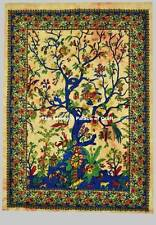 Tree of Life Decorative Wall Art Batik Wall Hanging Cotton Tapestry Poster Throw