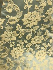 """Green Gold floral jacquardupholstery drapery fabric 110"""" width sold by the yard"""