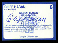Cliff Hagan #6 signed autograph auto 1989 Kentucky's Finest Collegiate Card