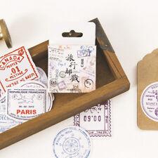 Travel Stamp Postmark Adhesive Decorative Stickers DIY Diary Scrapbook Sticker