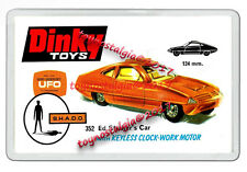 DINKY TOYS 352 ED STRAKERS GOLD CAR UFO  1970'S  RETRO JUMBO FRIDGE  MAGNET